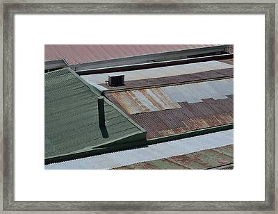 Tin Rooftops Of San Jose Framed Print