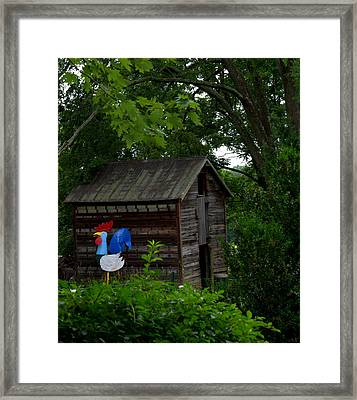 Framed Print featuring the photograph Tin Rooster by Cathy Shiflett
