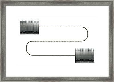 Tin Telephones Framed Print