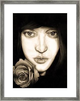 Tina Ayres Framed Print by Fred Larucci
