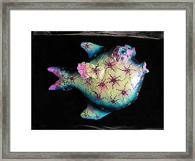 Tina The Angel Fish Framed Print by Dan Townsend