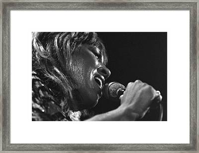 Tina Turner 1 Framed Print