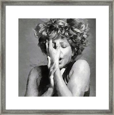Tina Turner - Emotion Framed Print
