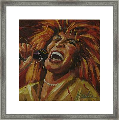 Tina Turner Framed Print