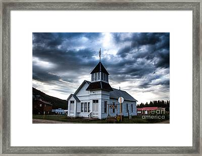 Tincup Town Hall Framed Print by Jim McCain