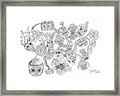 Tinheads Framed Print by Debbie McIntyre