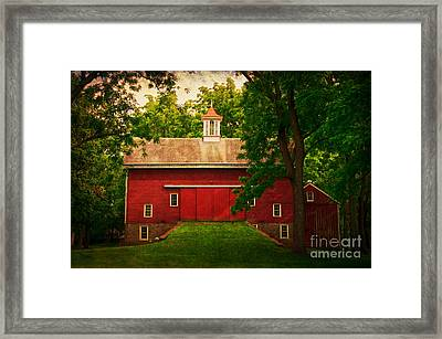 Tinicum Barn In Summer Framed Print by Debra Fedchin
