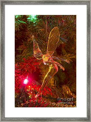 Tinker Bell Christmas Tree Landing Framed Print by James BO  Insogna