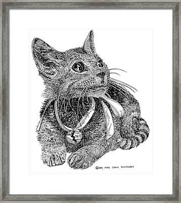 Cutie Pie Tinker Bell  Framed Print