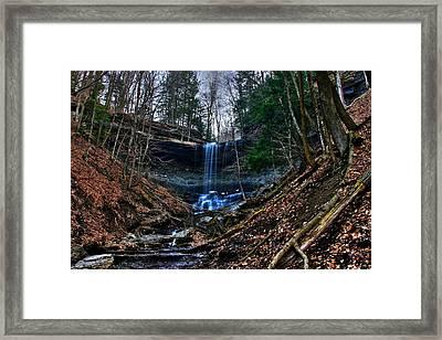 Tinker Falls Framed Print by Steve Ratliff