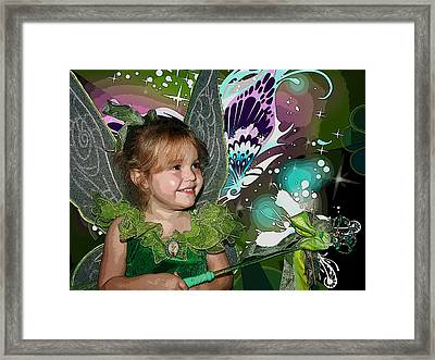 Tinkerbell Framed Print by Ellen Henneke