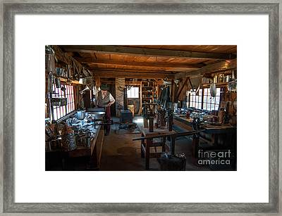 Tinsmith Shop - Old Sturbridge Village Framed Print by Scott Thorp