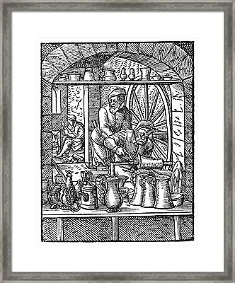 Tinsmiths, Artwork Framed Print by Science Photo Library