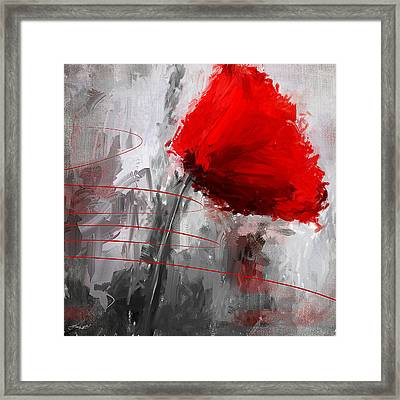Tint Of Red Framed Print
