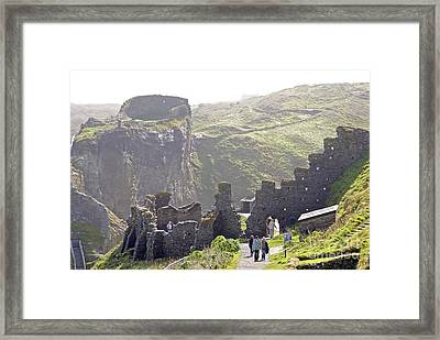 Tintagel Castle Framed Print by Rod Jones