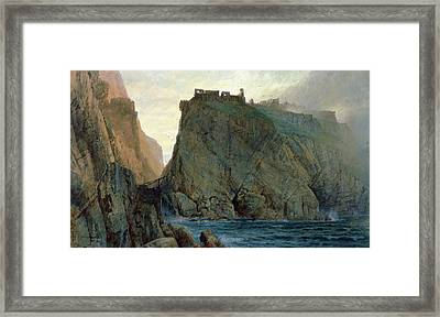 Tintagel On The Cornish Coast Framed Print by W T Richards
