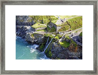Tintagel Waterfalls Framed Print by Rod Jones