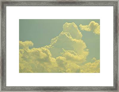 Tinted Cloud Framed Print by Kiros Berhane