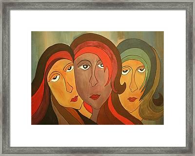 Tinted Girls Framed Print by Remya Damodaran