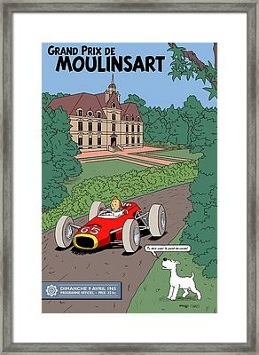 Tintin Grand Prix De Moulinsart 1965  Framed Print