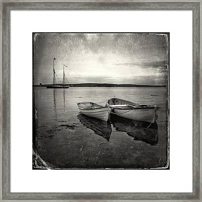 Tintype Boats 3 Framed Print