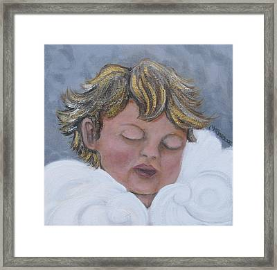 Tiny Angel Framed Print by Melissa Torres