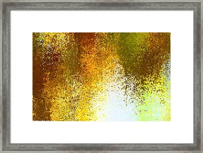 Tiny Blocks Digital Abstract - Earth Tones Framed Print