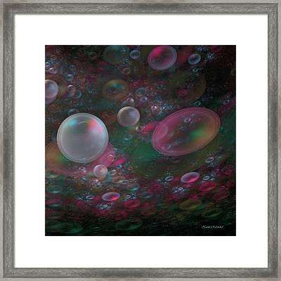Tiny Bubbles Framed Print by Naomi Richmond