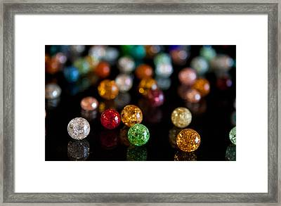 Tiny Crystal Balls Framed Print