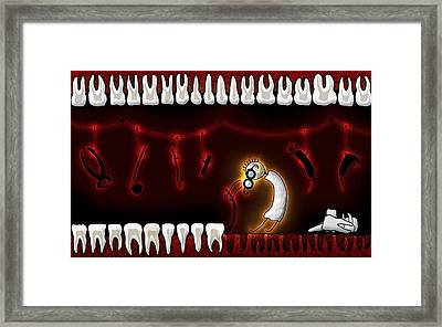 Tiny Dentist Framed Print by Gianfranco Weiss