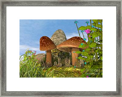 Tiny Fairy Village Framed Print