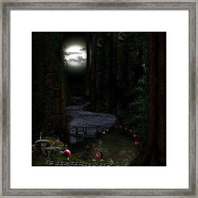 Tiny In The Village Framed Print by Lisa Evans