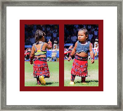 Tiny Jingle Dancer Framed Print by Theresa Tahara