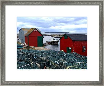 Tiny Little Harbour Framed Print by Janet Ashworth