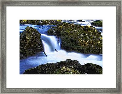 Framed Print featuring the photograph Tiny Water Fall by Timothy Latta