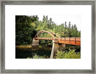 Tioga Bridge Over North Umpqua River Framed Print by Scott Pellegrin