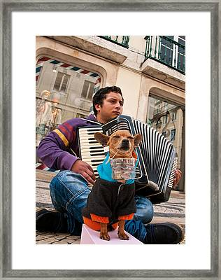 Framed Print featuring the photograph Tip Collector by Dennis Cox WorldViews