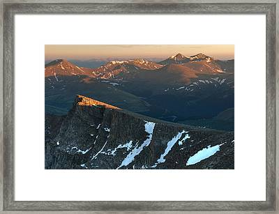 Tip Of The Tooth Framed Print by Mike Berenson