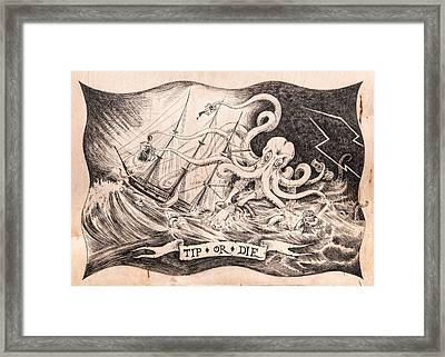 Tip Or Die Framed Print by Canis Canon