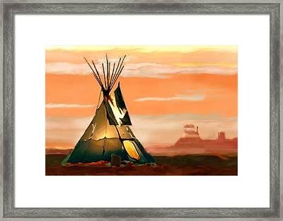 Tipi Or Tepee Monument Valley Framed Print