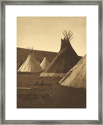 Tipis, Atsina Camp, Montana, 1908 Framed Print by Getty Research Institute