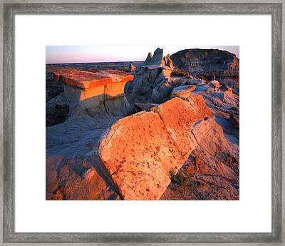 Tipped Over Table Framed Print by Ray Mathis