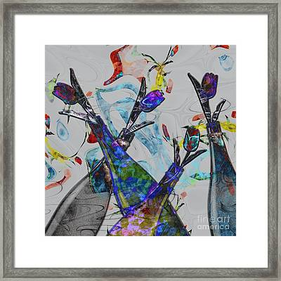 Tippy Tulips Framed Print by Liane Wright