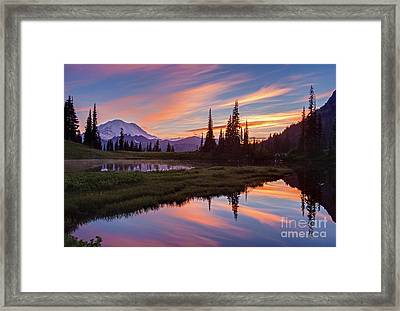 Tipsoo Firestorm Framed Print