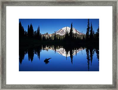 Tipsoo Sunrise Framed Print by Mark Kiver