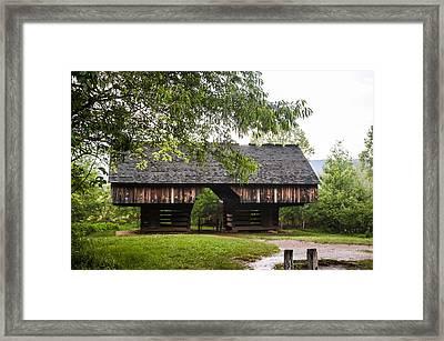 Tipton Cantilever Barn Cades Cove Framed Print