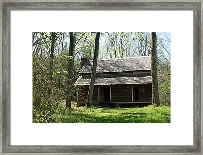 Tipton Place In Cades Cove Framed Print by Roger Potts