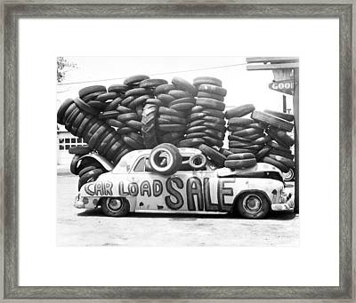 Tire Sale Framed Print by Retro Images Archive