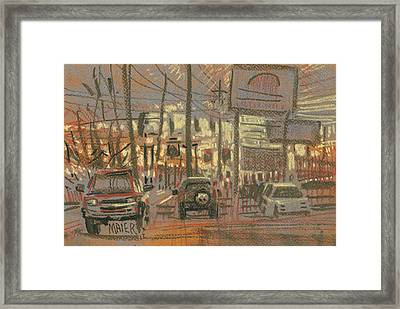 Tire Service Framed Print