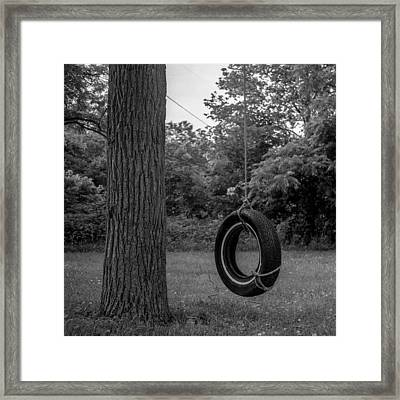 Tire Swing Framed Print by Alex Snay